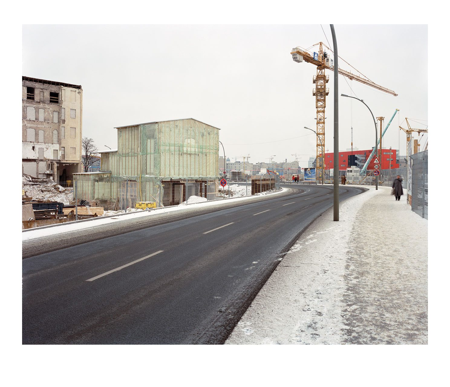 Stadt #11, freigelegter Kaisersaal, Potsdamer Platz, 1996
